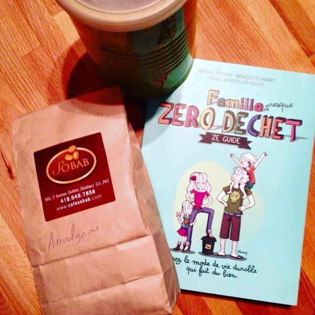 Le sac de café que je réutilise une vingtaine de fois. Il cadre très bien dans le mode de vie Zéro Déchet.