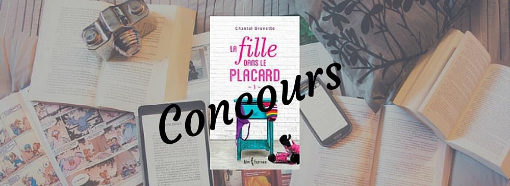Image représentant le concours pour gagner le livre La fille dans le placard de Chantal Brunette.