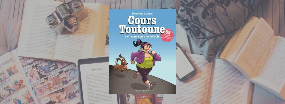 Couverture du livre Cours Toutoune de Geneviève Gagnon.
