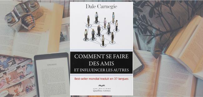 """Couverture du livre """"Comment se faire des amis et influencer les autres"""" de Dale Carnegie."""