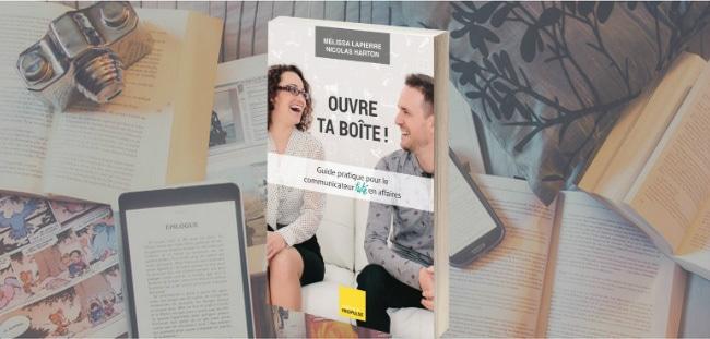 """Couverture du livre """"Ouvre ta boîte!"""" de Mélissa Lapierre et Nicolas Harton."""