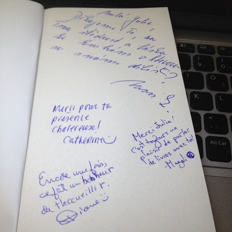 Remerciements chaleureux de la part de l'équipe de la Librairie Morency.