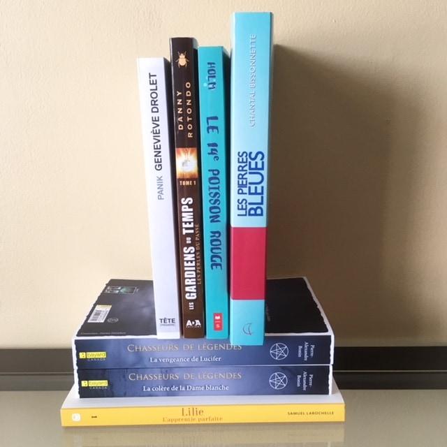 Les 2 piles de livres pour le combat des piles 7.