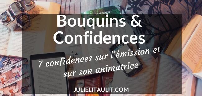 7 confidences sur l'émission Bouquins & Confidences et sur son animatrice.