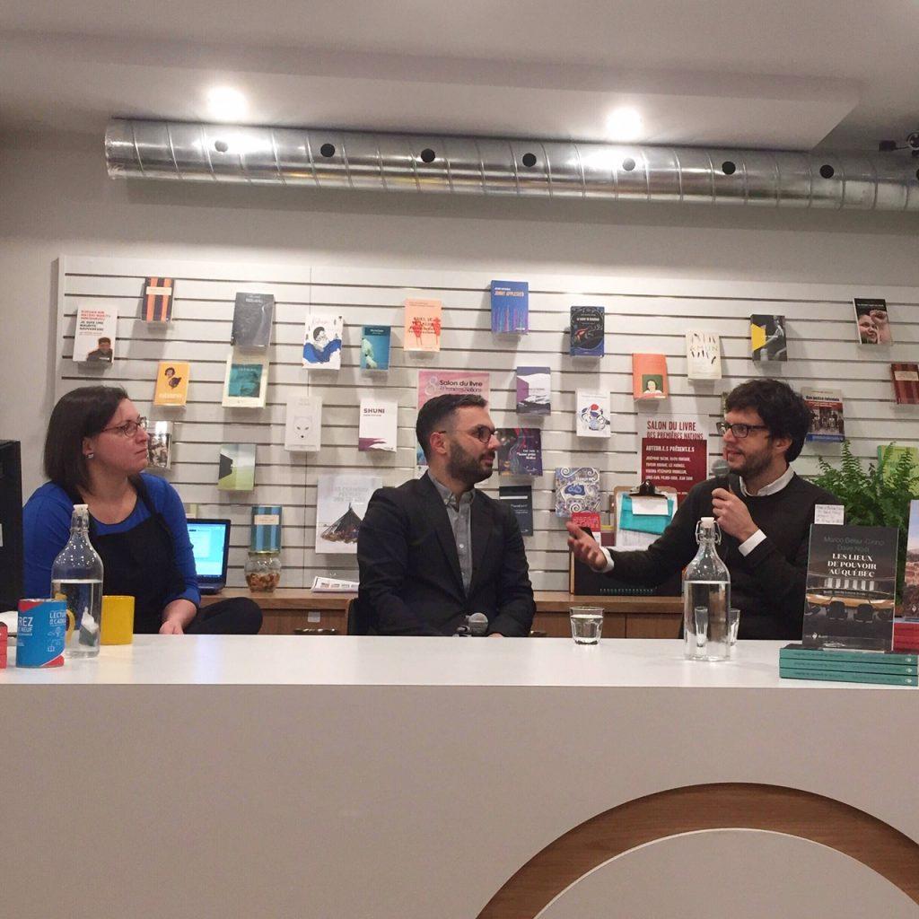 Julie Collin reçoit Marco Bélair-Cirino et Dave Noël, co-auteurs du livre Les lieux de pouvoir au Québec.