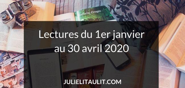 Liste de livres lus du 1er janvier au 30 avril 2020. Liste mise à jour régulièrement.