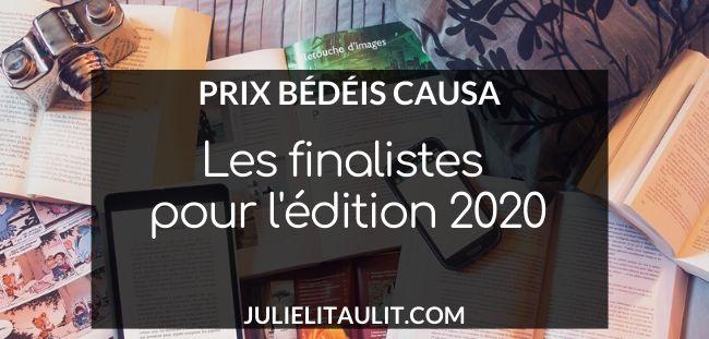 Les finalistes des prix Bédéis Causa 2020.